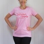 Women's  T-shirt [S/M/L] (it was so painful to see my empty womb)